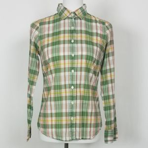 J.Crew The Perfect Shirt Green Plaid Button Down
